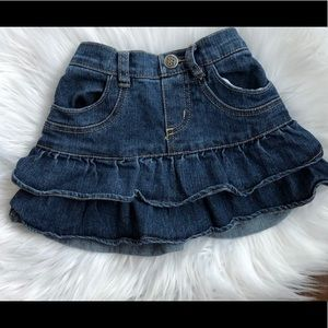 Toddler Denim Ruffle Skirt